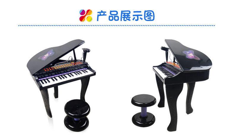 百灵-智能教学儿童电子钢琴(黑色)图片